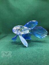 Swarovski Crystal – Siamese Fighting Fish – Blue - Mint - No box or CoA