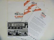 1988 Adelaide Grand Prix Williams F1 Press Kit Formula One Mansell Patrese AGP