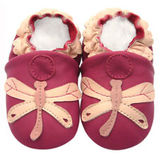 Soft Sole Leather Baby Shoes Prewalk Toddler Girl Gift Infant Kid Dragonfly 0-6M