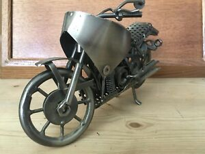 Hand Made Metal Motorbike Sculpture. Ideal Birthday Present