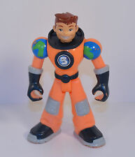 """2006 Earth Ace 5"""" Orange Suit #3 Planet Heroes Fisher-Price Mattel Action Figure"""
