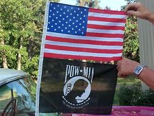 American & POW MIA Combo Flags that fit on your Car Antenna
