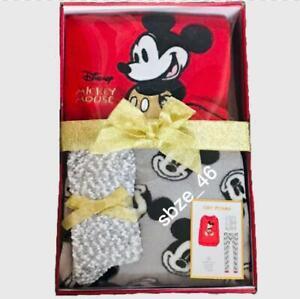 Disney Mickey Mouse Cosy Flecee Pyjama Set Gift Box With Cosy Socks Primark