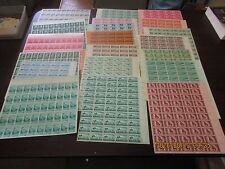 20 different 3 cent full sheets from 1945-1957, Mint NH
