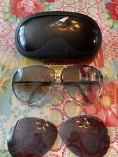 PORCHE DESIGN Sunglasses Carrera Silver And Gold Color With Extra Lense