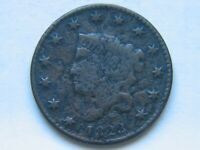 1823 Large Cent VF Detail