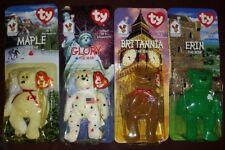 Lot McDonalds TY BEANIE BABIES Bears ERIN GLORY BRITANNIA and RARE MAPLE w ERROR