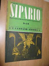 RIVISTA SIPARIO N.9-10 2/1947 MAX FRISCH IL TEATRO ITALIANO GIROTTI BOGART
