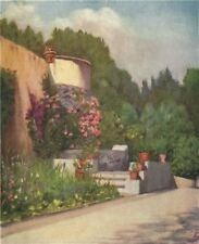 NAPOLI. 'A terrace in the Villa Rosebery' by Augustine Fitzgerald. Naples 1904
