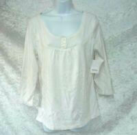 Women's Liz & Co Top size XL Off White