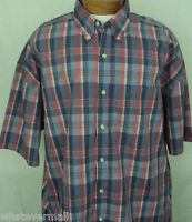 Big and Tall Sport Shirt SS Saddlebred Casual Mens Cherry Red Plaid NWT New 2XLT