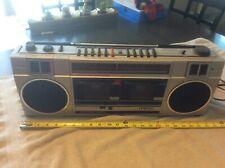 Sanyo M W200 Boombox Ghettoblaster Dual Cassette Deck Player High Speed Dubbing
