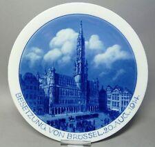 """(G3418) Meissen patriotischer Gedenkteller """" Besetzung von Brüssel 20.Aug.1914 """""""