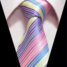 Arc-en-ciel Hommes Cravate multicolore violet bleu jaune & rose SOLDE de mariage