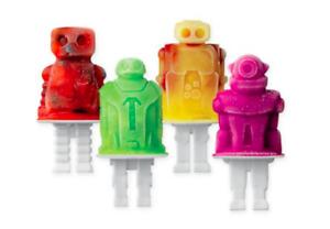 Tovolo Pop Mold Tray & Tovolo Robot Pop Mold Sleeves NEW
