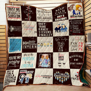 Grey's-Anatomy It's A Beautiful Day To Save Lives Blanket 06 Throw Blanket Gift