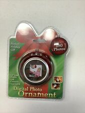 "Digital Photo Ornament Holds 180 Pictures 1.5"" Color Dislplay USB Connector New"
