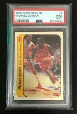 1986-87 Fleer Michael Jordan Rookie Sticker! PSA Grade Mint 9! 2021 National🔥