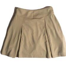 French Toast Girls Pleated Skirt School Uniform Size 14 Khaki With Hidden Shorts