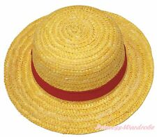 One Piece Yellow Red Ribbon Luffy Straw Hat Cosplay Adult Costume Hair Accessory