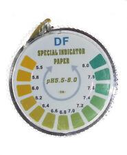 pH-Indikator Lackmus Papier Rolle für Wasser, Urin & Speichel, pH 5,5-8 |5 Meter
