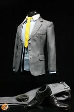 "1:6 Pop Toys X03 Men's Suit Set C Grey Stripe Accessories for 12"" Action Figure"