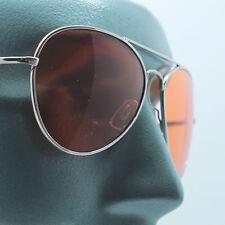 Uber Rock Cool Colored Orange Lens Aviator Sunglasses Tint Shades