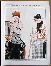 Vincent 1921 VIE PARISIENNE Stampa Chic Art Deco flapper Ragazza & Donna delle pulizie