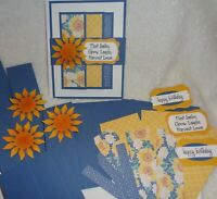 Stampin' Up! Card Kit CELEBRATE SUNFLOWERS Love Smile Friend Happy Birthday CTMH