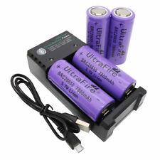 Batería 4X 26650 7800mAh 3.7V Li-ion recargable y USB 2 ranuras Cargador para Herramienta