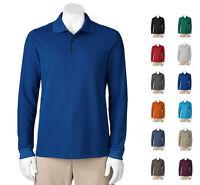 Croft & Barrow Men Textured Performance L/S Polo Shirt Many Colors 3XLT MSRP $48