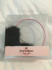 NEW Juicy Couture Pink Black Faux Fur Limited Edition Hearmuff Earmuff Headphone