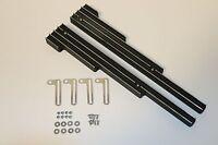 Black Finned Polished Aluminum Spark Plug Wire Looms Holders SBC BBC 302 350 454