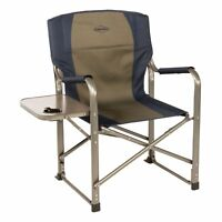 Kamp-Rite CC105 Outdoor Tailgating Camp Folding Director's Chair with Side Table
