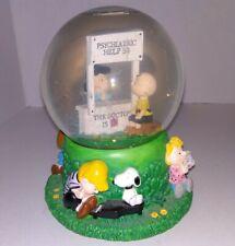 "Peanuts ""Doctor Is In"" Windup Musical Snow Globe Charlie Brown Snoopy * Works"