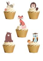 18 STAND UP Woodland Animals Countryside Edible Wafer Paper Cake Toppers