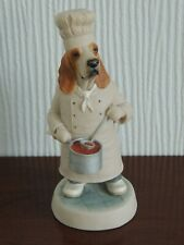 More details for basset hound chef vintage figurine robert harrop designs country companions