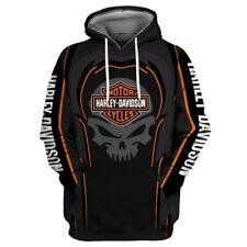 Harley-Davidson 3D Men Women Kids Hoodie Pullover Sweatshirts Coat Gift UK2