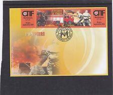Romania 2004 Fire Brigade First Day Cover FDC Bucuresti pictorial fdi h/s