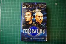 Star Trek: Federation - Judith & Garfield Reeves-Stevens: 1st 1994 HB DJ VGC+