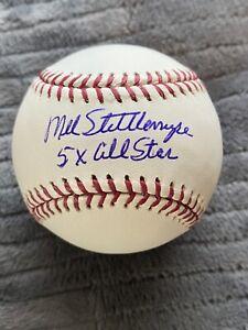 Mel Stottlemyre Signed Baseball Inscribed 5x All Star New York Yankees Mets