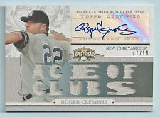 ROGER CLEMENS 2014 TRIPLE THREADS GAME WORN JERSEY AUTOGRAPH AUTO /18