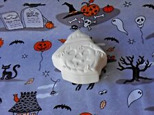 Halloween Scarecrow Candy Box (H12) Ceramic Bisque You Paint