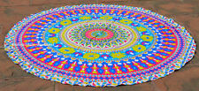 Indian Cotton Wall Hanging Beach Throw Yoga Mat Hippie Round Mandala Tapestry