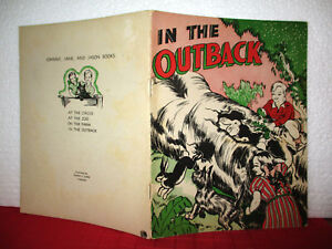 Johnny Jane and Jason IN THE OUTBACK 1944 SC Australian VINTAGE SCHOOL READER