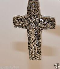 "lot of 3 Pope Francis Cross 2"" Original Pectoral Rosary Bracelet making pendant"