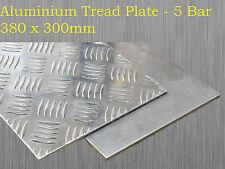 Aluminium Checker Plate Treadplate Sheet 5 Bar 380mm x 300mm x 3mm