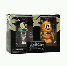 Disney Vinylmation Spooky Series 2 Goofy and Pluto Set- New- Limited Release