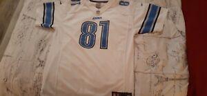 Detroit Lions Calvin Johnson White Mesh Vintage Reebok Jersey Men's Size XL