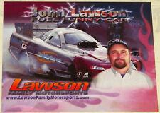 """VINTAGE """"JOHN LAWSON"""" TOP FUEL 2004 DODGE STRATUS FUNNY CAR DRAG RACING HANDOUT!"""